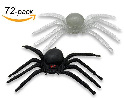 Halloween Spider Web Decoration Ideas (VentoMarea Spider Halloween Decorations Party Favor Glow in the Dark (36 Pack), Black(36 Pack))