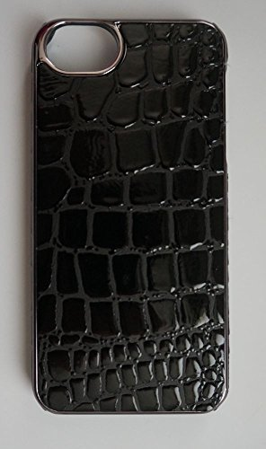 Nicole Miller iPhone 5/5s Case with Screen Protector, Black Crocodile (ICP5092-BKC)