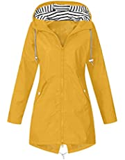 Waterdichte jassen voor vrouwen, regenjas, buitenjas, capuchon, regenjas, grote maten, lange mouwen, winddichte jas