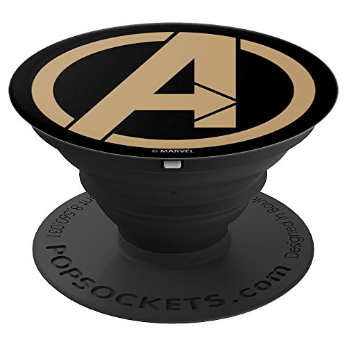 Marvel Avengers Symbol Gold Icon - PopSockets Grip and Stand for Phones and Tablets