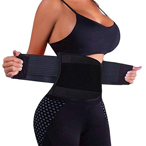 VENUZOR Waist Trainer Belt for Women - Waist Cincher Trimmer - Slimming Body Shaper Belt - Sport Girdle Belt (UP Graded)(Black,Medium) (Best Diet For Belly Fat And Love Handles)