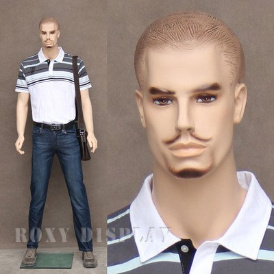 (MZ-WEN) ROXYDISPLAY™ Realistic male mannequin with molde...