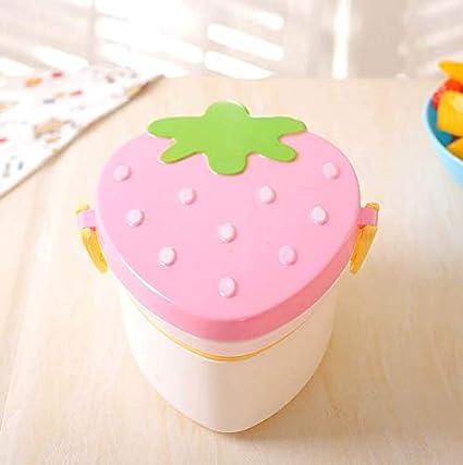 SunnyGod Caja de Bento de Doble Capa de Fresa Japonesa Mini Child (Rosa)