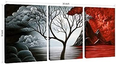 home, kitchen, wall art,  posters, prints 11 discount Wieco Art The Cloud Tree Wall Art Oil in USA