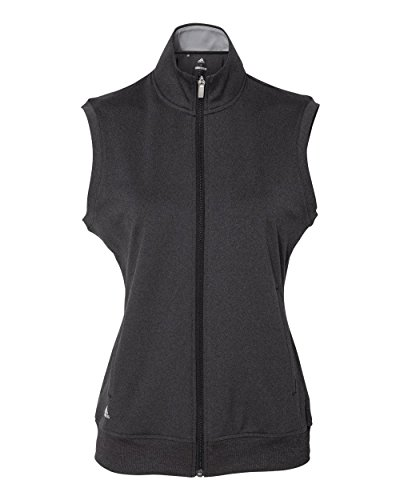 (adidas Golf Womens Full-Zip Club Vest (A272) -Black Heat)