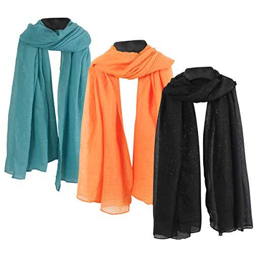 Women Ladies Oversized Long Scarf - Kahki Yellow Green Plain Solid Fashion Long Large Big Lightweight Soft Scarfs