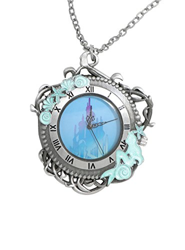 Disney The Little Mermaid Triton's Palace Pocket Watch Necklace