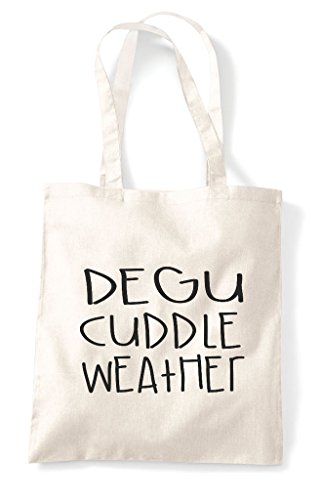 Pet Themed Bag Funny Animal Degu Tote Cuddle Shopper Weather Cute Natural UxAW7wHqE