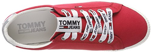 Tommy Jeans Damen Casual Sneaker Rot (Tango Red 611)