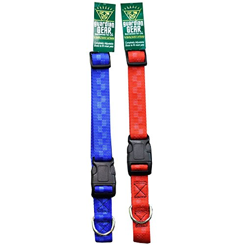 Checkered Nylon Adjustable Collars - Checkered Nylon Adjustable Collars, Width: 5/8 inch = 4.95, Color: Blue Checkered