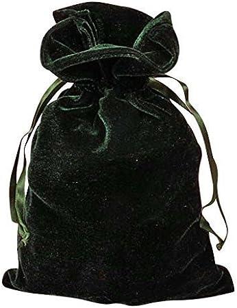 Paper Mart Hunter Green Velvet 6x9 Tarot and Dice Bag