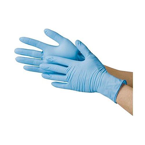 川西工業 ニトリル極薄手袋 粉なし ブルーS ds-1915806 B077Q61W8Q