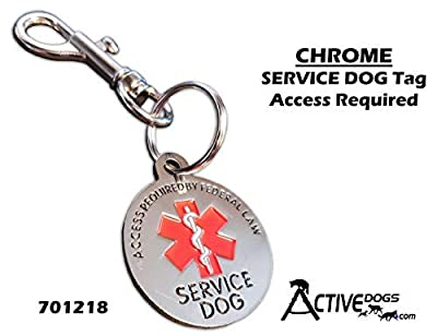 ActiveDogs Service Dog Chrome Tag