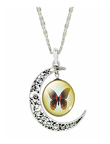 Hobe Gold Necklace (Darkey Wang Women Fashion Butterfly Time Gemstone Necklace(1#))