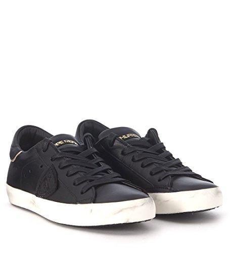 Sneaker In Pelle Nera Modello Parigina Donna Philippe Nera
