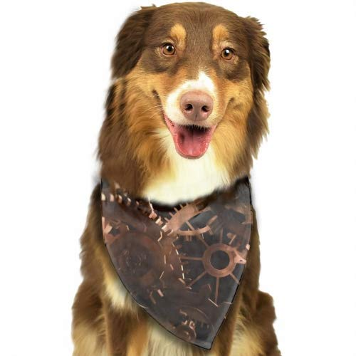 DH-MSDress Pet Dog Bandana Scarf Pack Triangle Bibs Cute Ferret Reversible Plaid Printing Kerchief Set Accessories for Small to Large Dogs Cats Pets