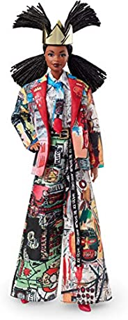 Barbie Collector Jean-Michel Basquiat X Doll with Braids and Crown, Wearing Art-Inspired Suit and Accessories,