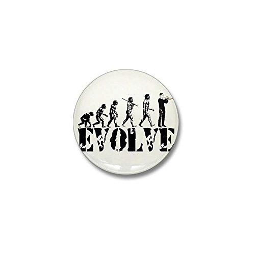 CafePress - Trumpet Evolution Mini Button - 1