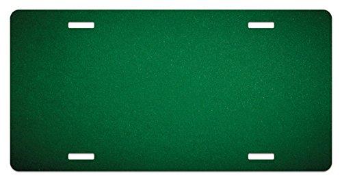 Lunarable Hunter Green License Plate, Digitally Created Plain Surface Vegas Color Holdem Artful Picture Print, High Gloss Aluminum Novelty Plate, 5.88 L X 11.88 W Inches, Hunter - Aluminum Hunter Green Color