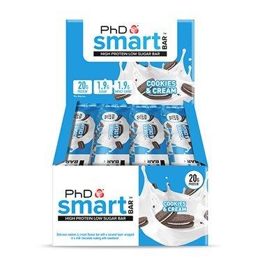 PhD Smart Bar Cookies & Cream 12 x 64g by PhD Smart Bar