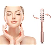 Lavish Face Massage Roller – Facial Firming, Uplifting Beauty Tool – Rose Gold with 30 Precious Germanium Stones – By Lavish Beauty Collection