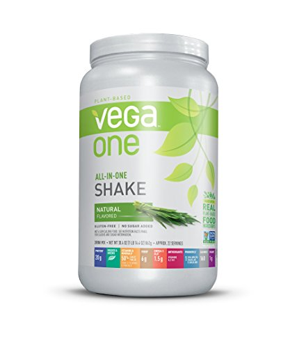 (Vega One All-in-One Natural (22 Servings, 30.4 oz) - Plant Based Vegan Protein Powder, Non Dairy, Gluten Free, Non GMO)