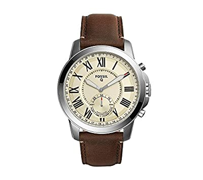 Fossil Hybrid Smart Watch - Q Grant Dark Brown Leather