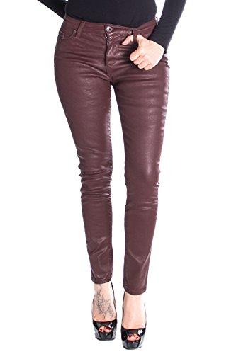 pantalons femme Jeans Marron skinny P78L w4Hqgn