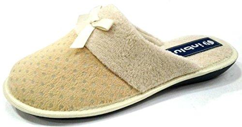 Inblu Pantofole Slippers Art D'hiver Des Femmes. Rb-53/1 Glace