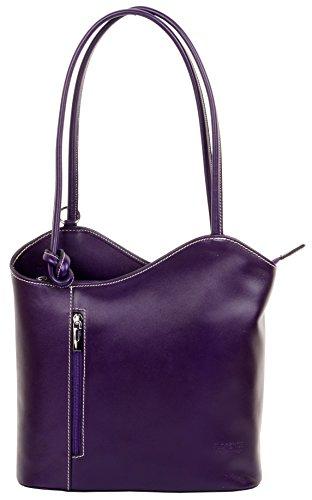 Sac en nbsp;Comprend fabriqué dos sac marque de main italien un sac Grand protecteur nbsp;Versions moyennes cuir à à de ou grandes bandoulière Purple et sac main à à la rangement rxO1qrzwn