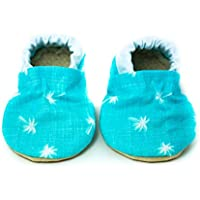 Blue Palm Tree Baby Shoes