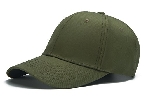 Baseball Hat Olive (Edoneery Men Women Cotton Adjustable Washed Twill Low Profile Plain Baseball Cap Hat (Olive Green))