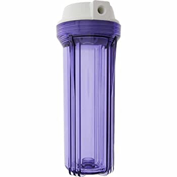 """Clear RO filter housing, 10"""" canister clear sump reverse osmosis 1/4"""""""