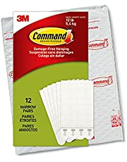 Command Narrow Picture Hanging Strips, White