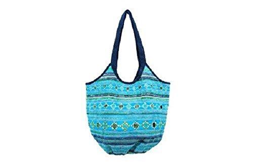 Lantern Moon Handcrafted Sapa Knitting Bag - Maggie Turquoise by Lantern Moon