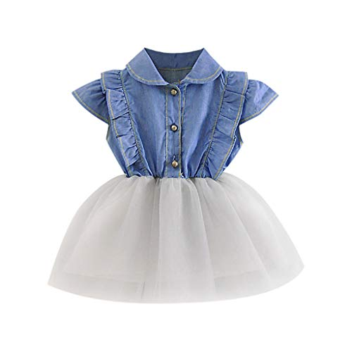 (NEARTIME ❤️Baby Dress,Hot 2018 Cute Beautiful Baby Girls Infant Toddle Children 2Pcs Bow Striped Tops+Tutu Skirt Set)