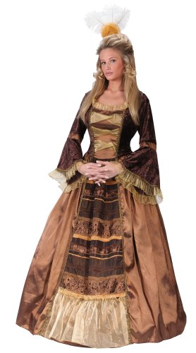 FunWorld Baroness Diamond Collection, Brown/Gold, 4-6 Small Costume -