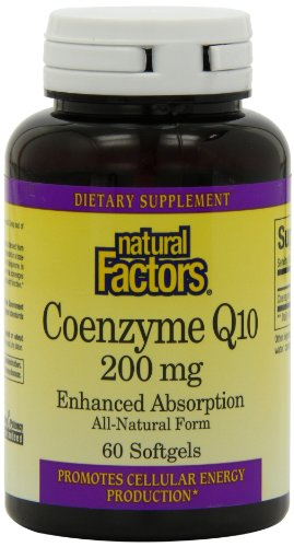 Natural Factors Coenzyme Q10 200mg Capsules, 60-Count