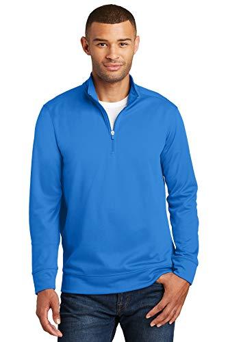 Port & Company 174 Performance Fleece 1/4-Zip Pullover Sweatshirt. PC590Q X-Large Royal