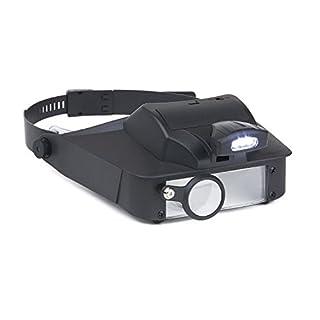 Carson LumiVisor Head Magnifier – Head Visor with LED Lighted Magnifier (2x/3x/5x/6x) (LV-10)