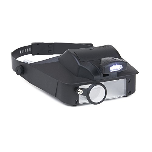 Carson LumiVisor Head Magnifier - Head Visor with LED Lighted Magnifier (2x/3x/5x/6x)  ()