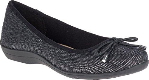 Zachte Stijl Hush Puppies Dames Heartbreaker Loafer Black Sparkle Linen