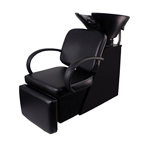 Walcut Adjustable Backwash Barber Shampoo Chair Bowl Sink Unit Station Spa Salon Beauty Equipment