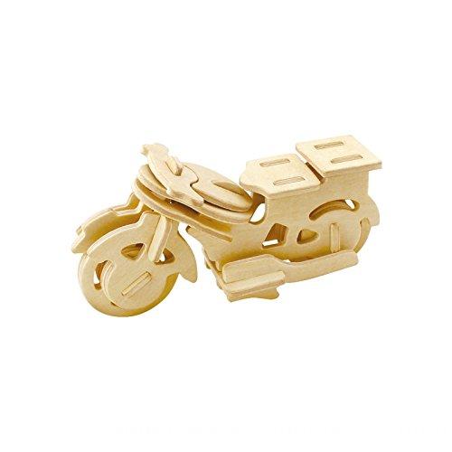 3D Wooden Model Toy Kit World Puzzle Build Car Kit Wooden 3d Puzzles Build Car Kit Kids Wooden Puzzle Car Model Kits 25-pcs (Motorcycle) (Build Car Wooden)