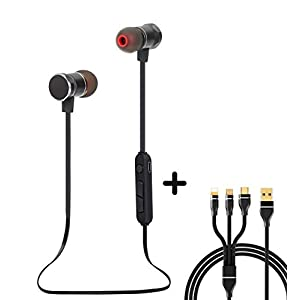 Bluetooth Headphones, Magnetic Wireless Earbuds with Build-In Microphone Sweatproof Earpiece Noise Cancelling Sports…