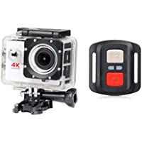 ESCENERY New Full HD 1080P 32G WIFI H16R Action Sports Camera Camcorder Waterproof+Remote+1200 Million High-Definition Wide-Angle Lens. (White)