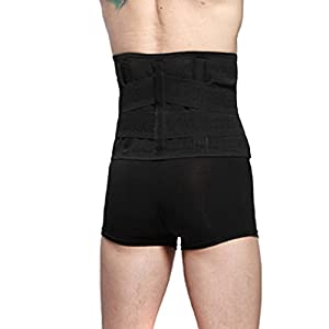 "Goege New Style Adjustable Breathable Trimmer Belt,Tummy Fat Burning Slimming Belt,Body Shaper Slimming Tummy Waist Trainer,Lose Weight Fast,Helps Lose Post Boby Weight,Best Waist Trimmer Beer Belly for Men,Size XL(36.7""-40.7"")"