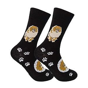 Funatic Pomeranian Socks - Dog Apparel - Pomeranian Funny Gift - I Love Pomeranians - Pomeranian Dogs - Dog Owner - I Love Dogs - Dog Socks 49