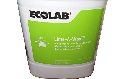 Ecolab 18700 Lime Away Cleaner & LimeAway Delimer, Commercial-Strength Lime-Away Obliterates Nastiest Crud & Grime (4gl/cs) by Ecolab