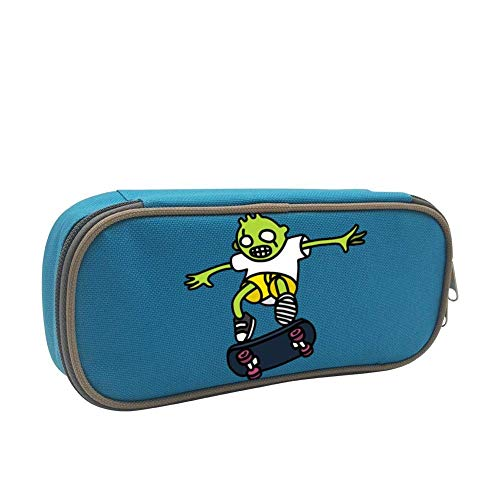 TFOOD Skateboarding Zombie Pen Case, Homecube Big Capacity Pencil Bag Makeup Pouch Durable Students Stationery with Double Zipper